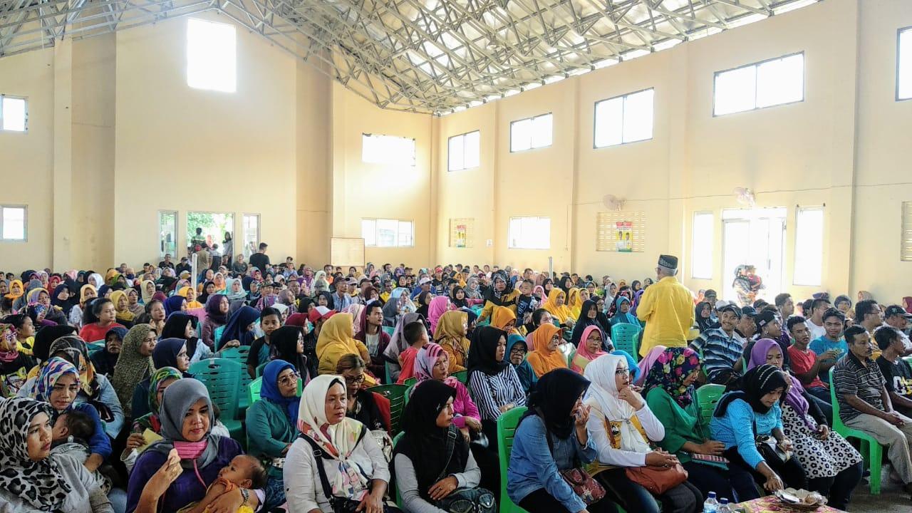 Membludak Peserta Sosialisasi Pencoblosan Surat Suara di Banjar