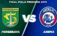 Jadwal Kick Off Final Leg Kedua Piala Presiden Arema VS Persebaya Mundur Sejenak