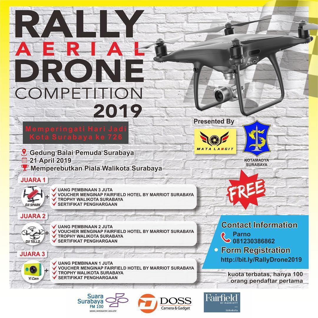 Yuk Rebut Trophy Wali Kota Surabaya di Ajang Rally Aerial Drone 2019