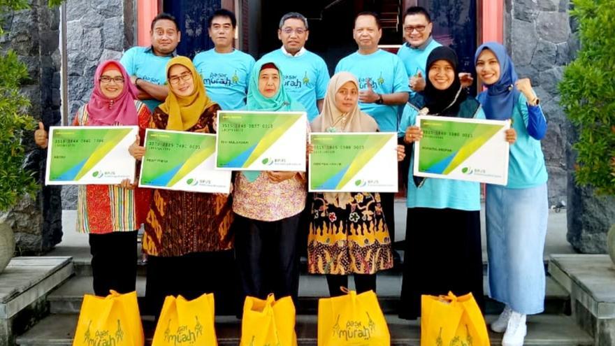 BPJS Ketenagakerjaan Sidoarjo Menangguk Berkah di Pasar Murah