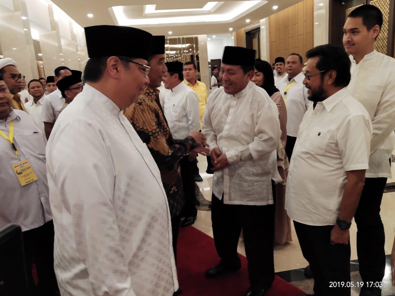 Hadiri Buka Puasa Bersama DPP Partai Golkar, Arinal Bertemu Jokowi