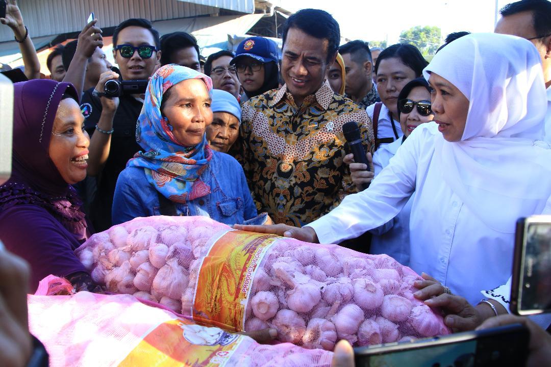 Gubernur Khofifah : Stok Bahan Pangan Aman Jelang dan Pasca Lebaran