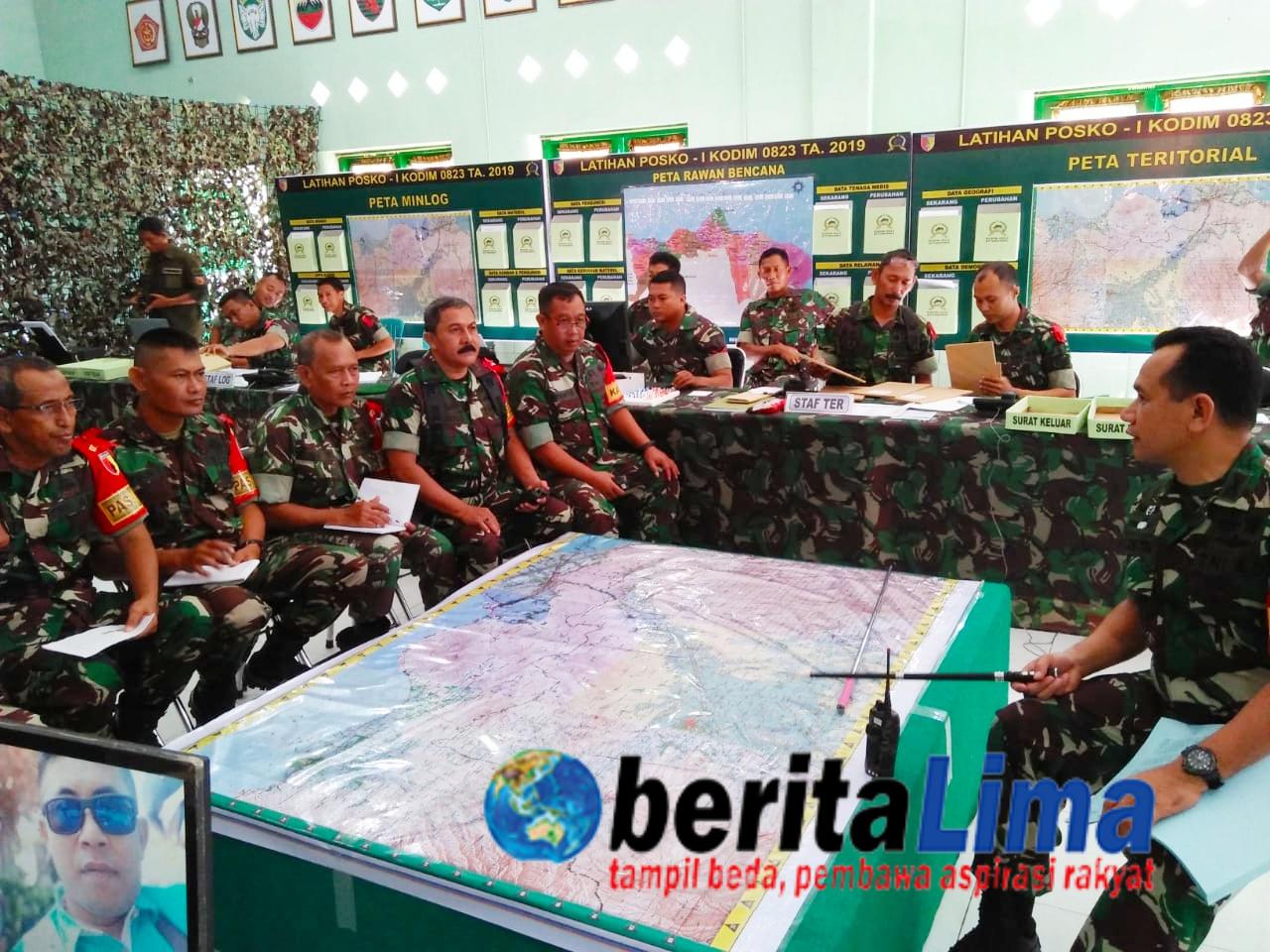 Kodim 0823 Gelar Latihan Operasi Militer selain Perang  tentang Penanggulangan Bencana Alam