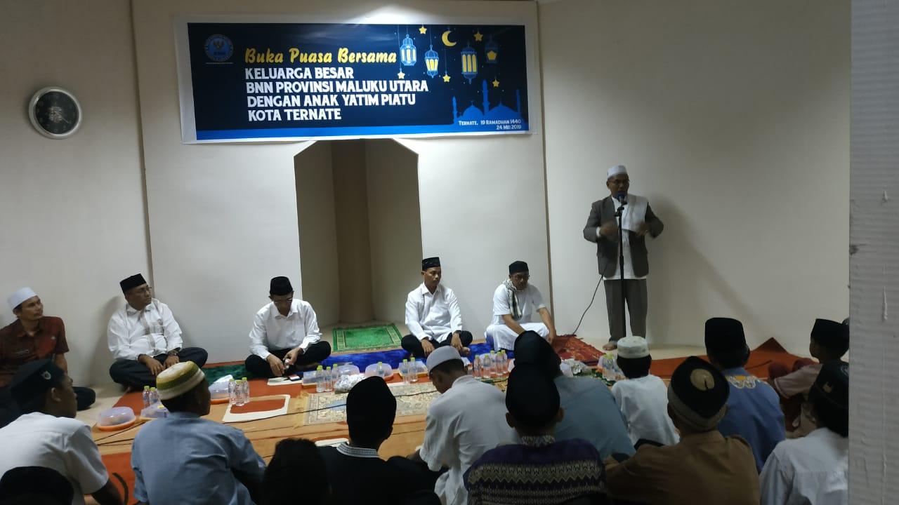 Marhaban Yaa Ramadhan, BNNP Malut Buka Puasa Bersama Anak Yatim