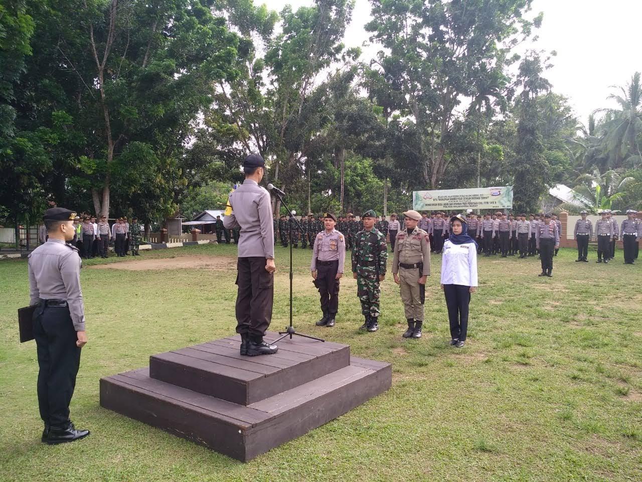 Polres HalBar Gelar Apel Pasukan Operasi Ketupat Kie Rah