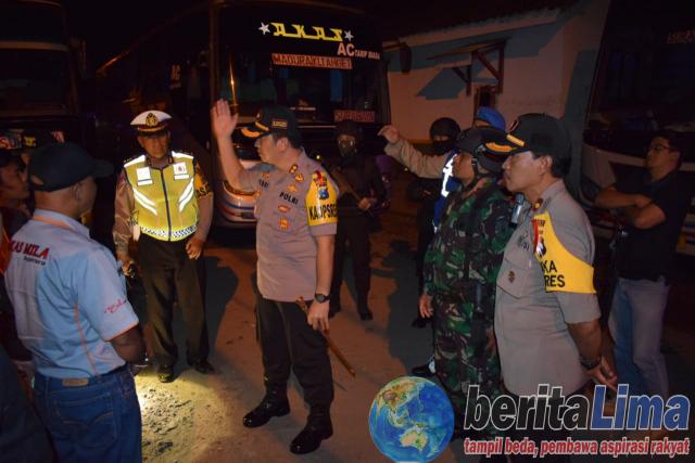 Polres Bondowoso Lakukan Razia Antisipasi Gerakan People Power
