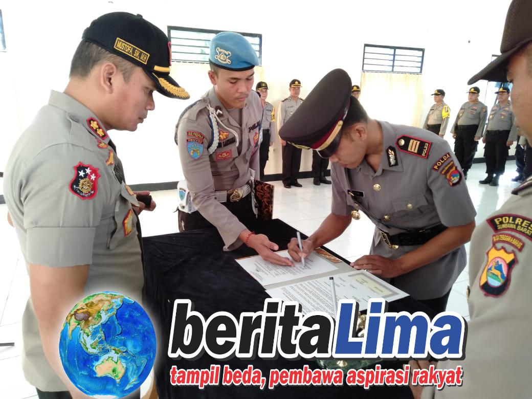 Kapolres Sumbawa Barat Pimpin Sertijab Kapolsek Taliwang