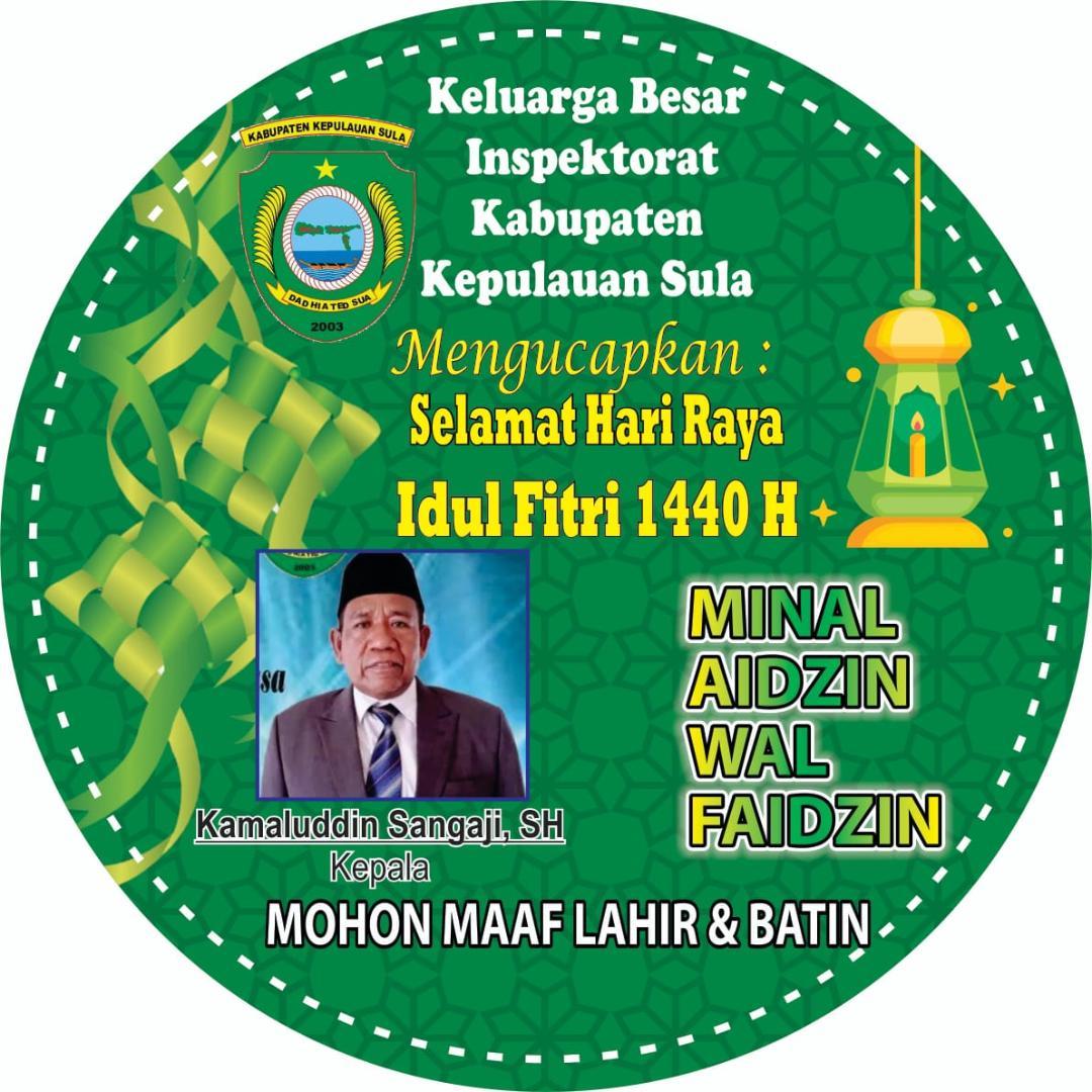 Kamaluddin Sangaji SH Mengucapkan Selamat Idul Fitri 1440 H
