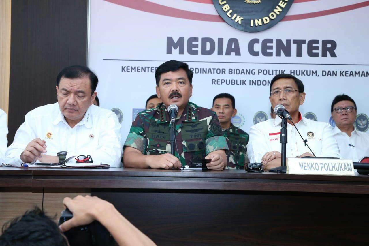 Panglima TNI :  TNI Mendukung Penuh Polri Dalam Menjaga Keamanan Negara