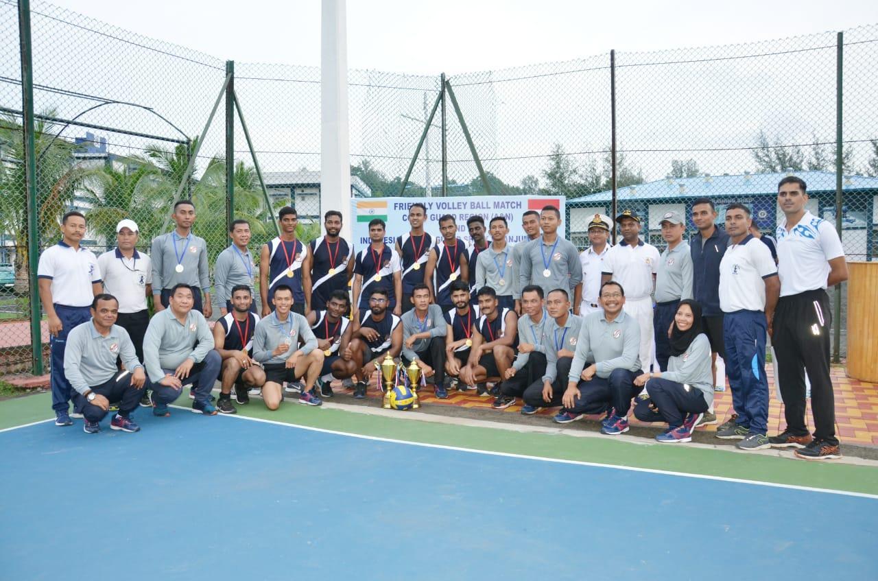 ABK Tanjung Datu 301- Indian Coast Guard Bersahabat di Lapangan Voli