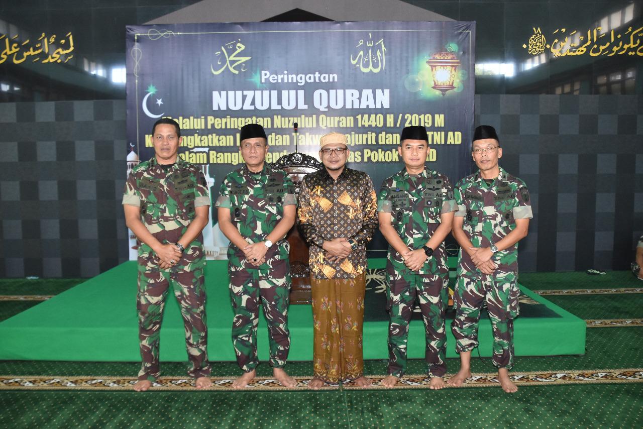 Nuzulul Qur'an, Pangdam V/Brawijaya Minta Prajurit Tingkatkan Keimanan dan Ketakwaan