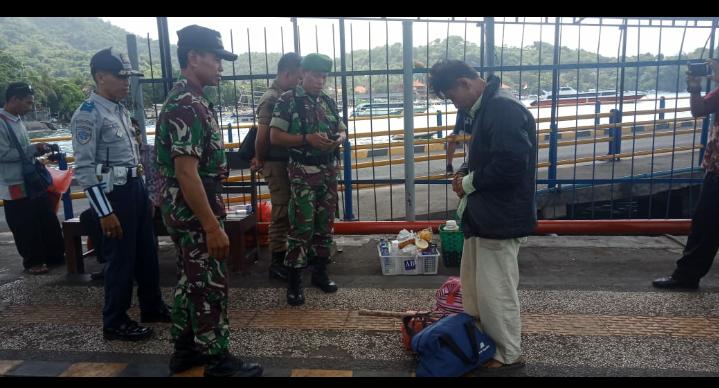 Pos TNI AL Gilimanuk dan Candi Dasa Jajaran Lanal Denpasar Pengamanan Pasca Pemilu dan Arus Mudik 2019