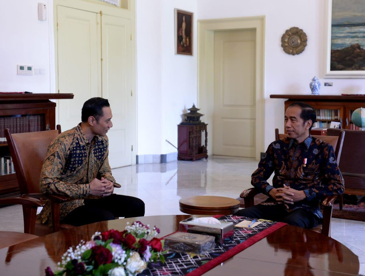 Presiden Jokowi Bertemu AHY di Istana Bogor