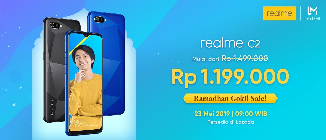"""Dapatkan harga terbaik dari Realme C2 di bulan Ramadhan melalui """"Ramadhan Gokil Sale"""""""