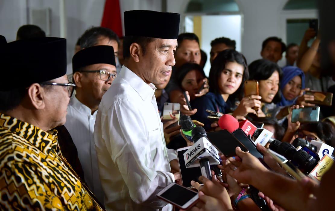 Presiden Jokowi Percayakan Hasil Pemilu kepada KPU