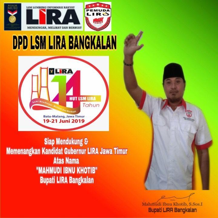 Bupati LIRA Bangkalan: Kami Siap Mengikuti Muswil LSM LIRA Jatim