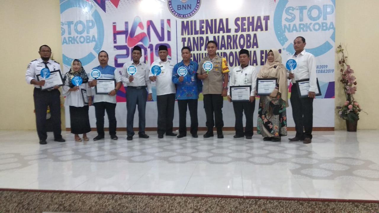 Peringatan HANI 2019, Bupati Touna Ajak Generasi Milenial Berantas Narkoba