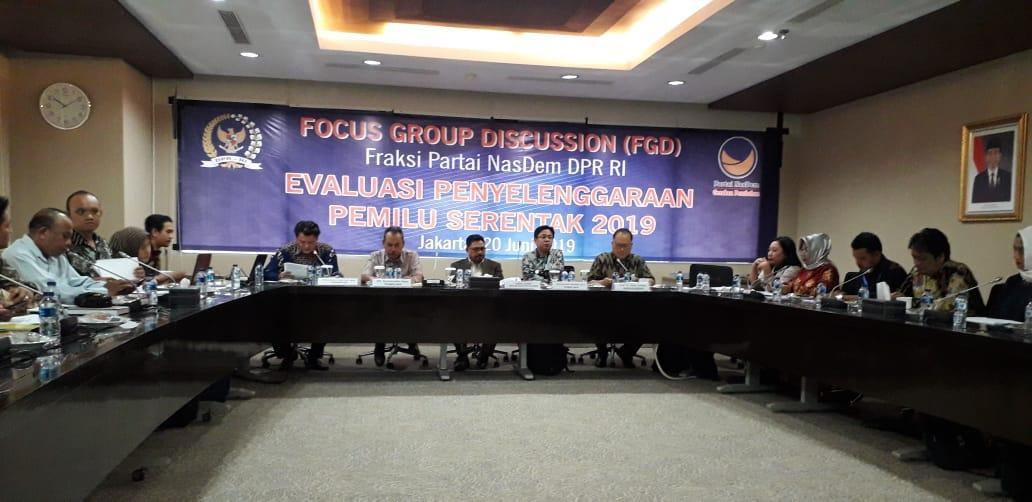 Fraksi Nasdem DPR RI Kedepankan Aspek Prudensial Dalam Evaluasi Pemilu