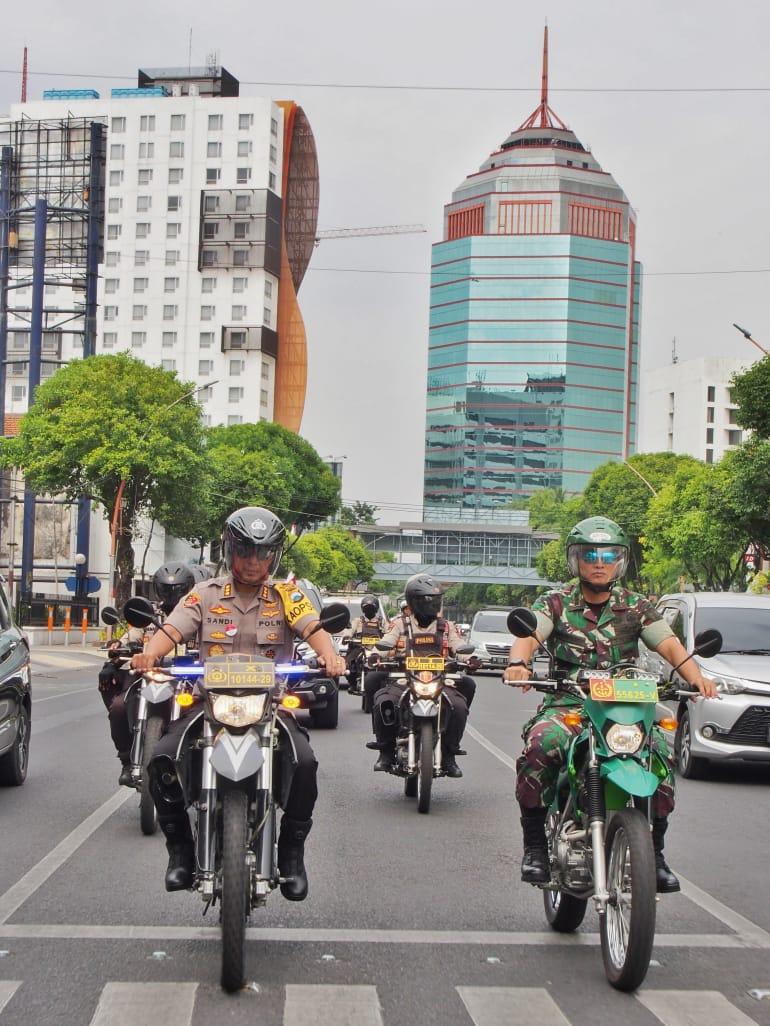 Sidang PHPU di MK : Kapolrestabes Surabaya Gunakan Trail Patroli Obyek Vital