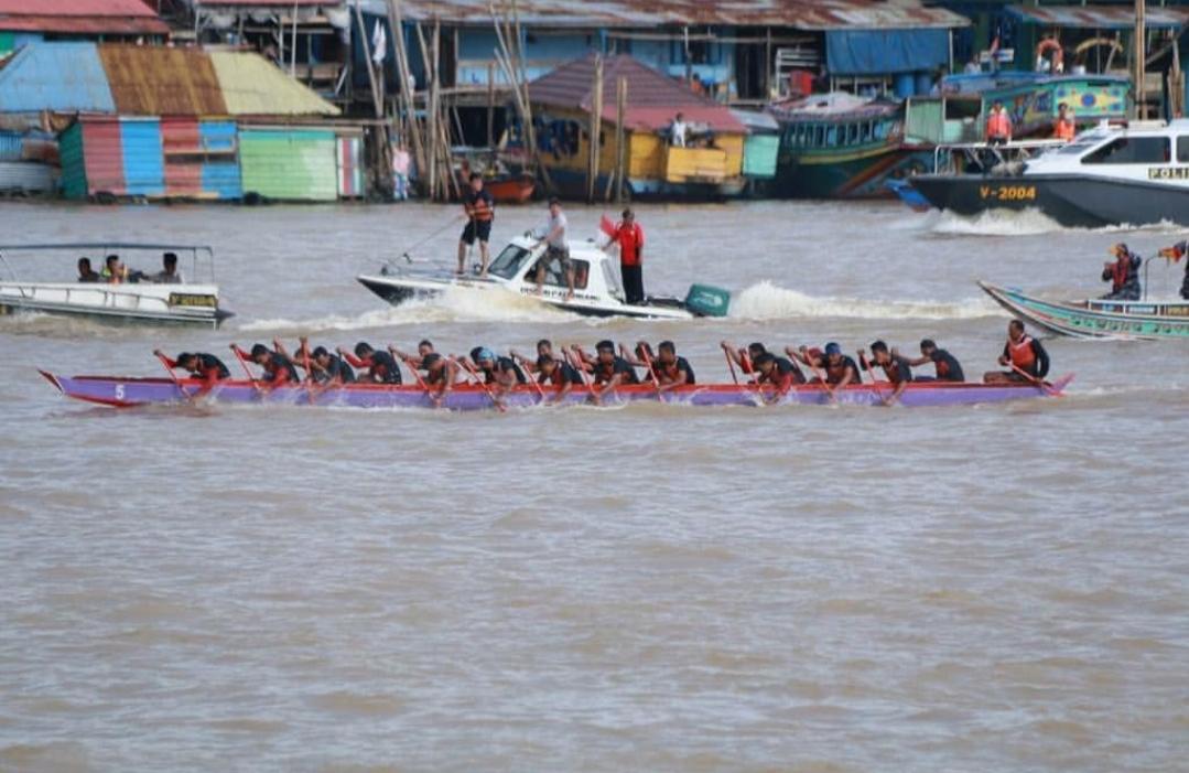 Walikota Palembang. H. Harnojoyo Berharap Inovasi Lomba Bidar Untuk Menarik Wisatawan