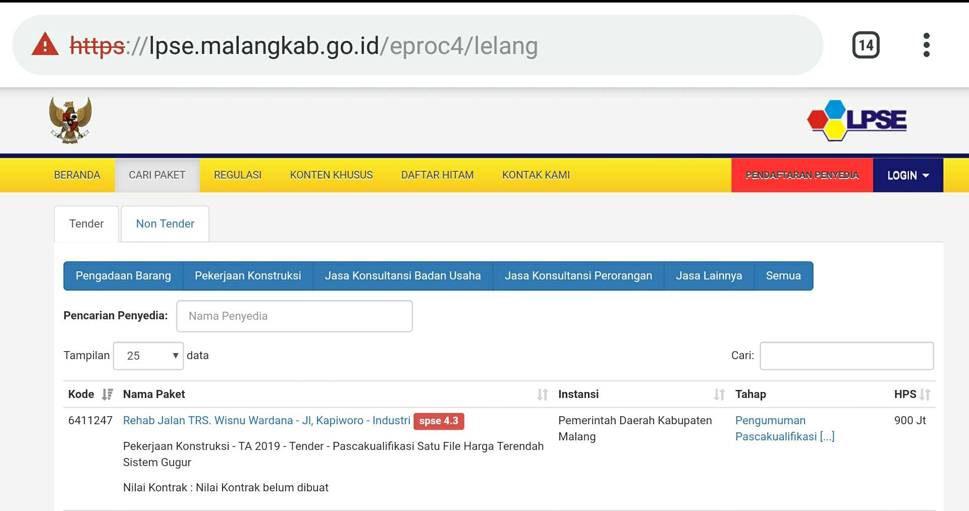 Rekanan Lokal Meradang, Penawaran Paket Lelang di DPUBM Kabupen Malang Turun Hingga 40 Persen
