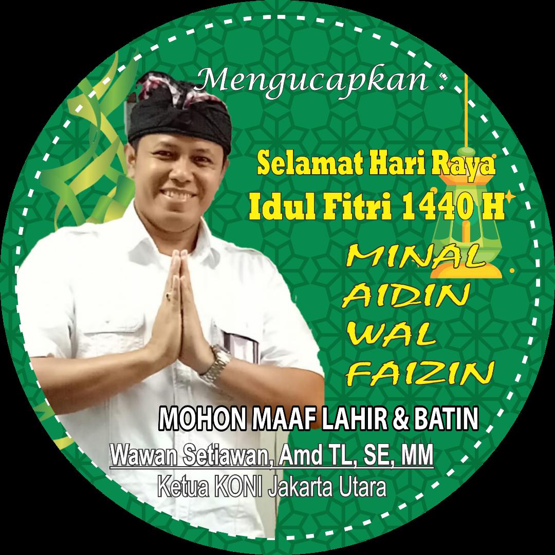 Ketua KONI Jakarta Utara Mengucapkan Selamat Hari Raya