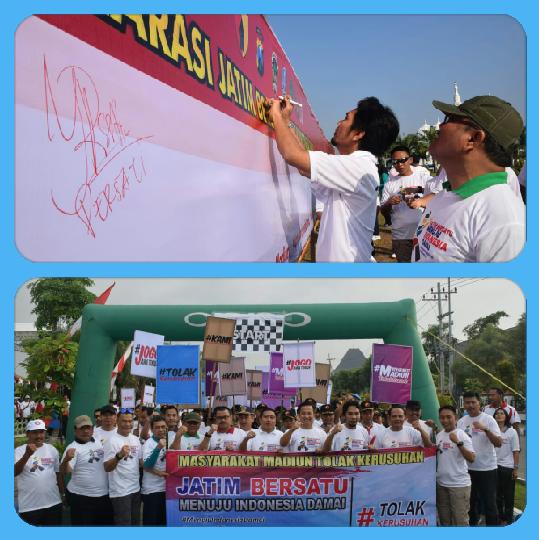 Kabupaten Madiun Deklarasikan Jatim Bersatu Menuju Indonesia Damai