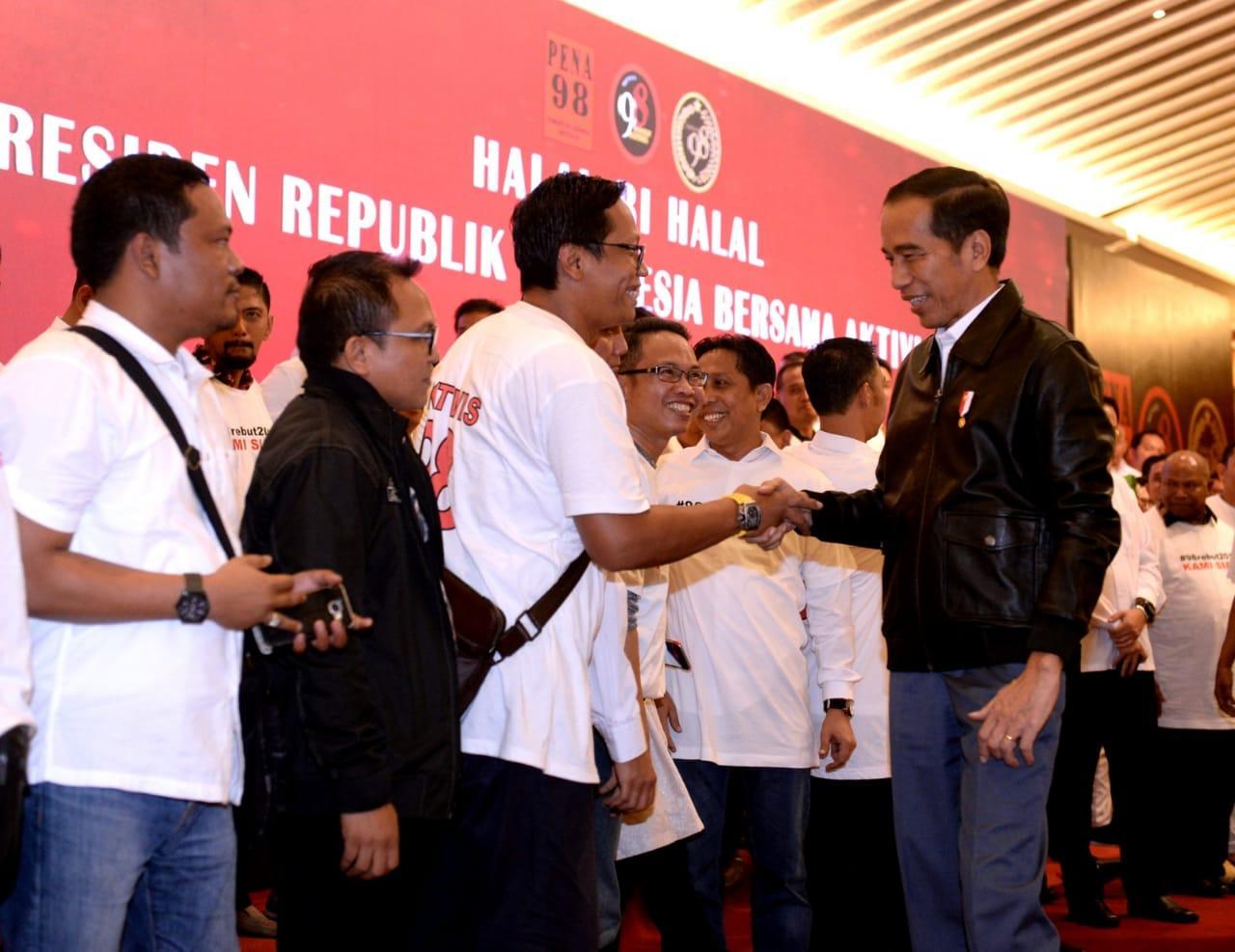 Bertemu Aktivis 98, Presiden Jokowi: Membangun Negara Butuh Kebersamaan
