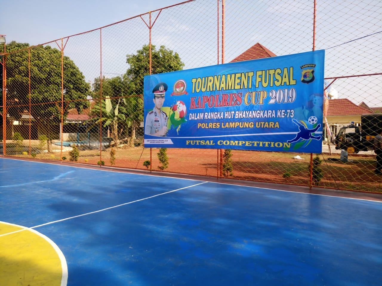 Tim Siap Berlaga di Turnamen Futsal Kapolres Cup Lampung Utara