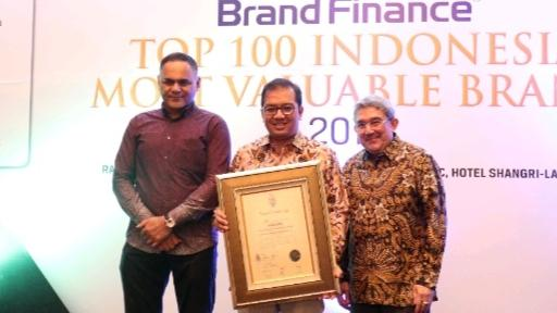 Bank Jatim Raih Penghargaan Indonesians Top 100 Most Valuable Brands 2019