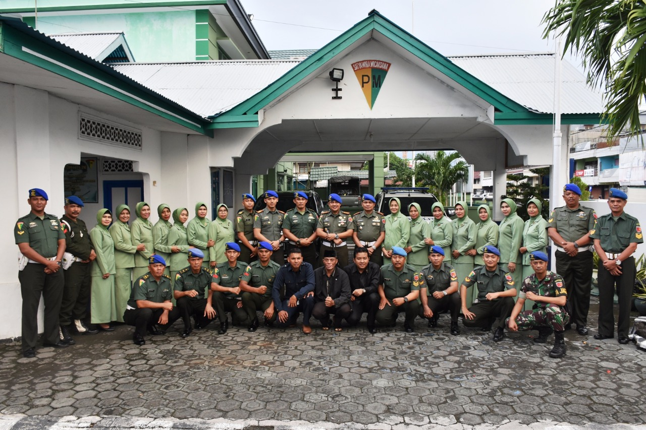 Denpom Ternate di kunjungi DANPOMDAM