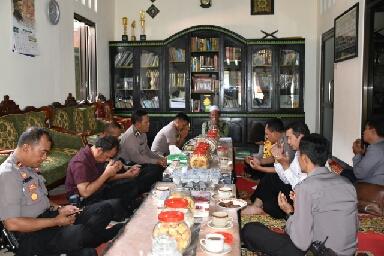 Anjangsana ke Tokoh Agama Isi Rangkaian HUT Bhayangkara Ke-73 Polres Wonosobo