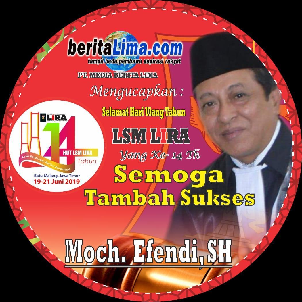 Efendi: Selamat Ulang Tahun LSM LIRA yang ke 14 th