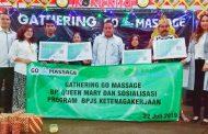 Para Terapis Go-Massage Sidoarjo Terlindungi BPJS Ketenagakerjaan