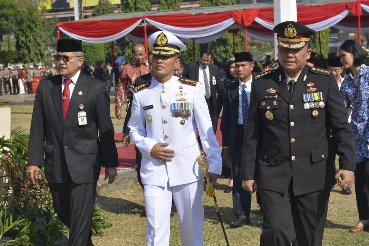 Danlanal Semarang Bersama Forkopimda Provisi Jateng Hadiri Upacara Hari Bhakti Adhyaksa Ke 59 Tahun 2019