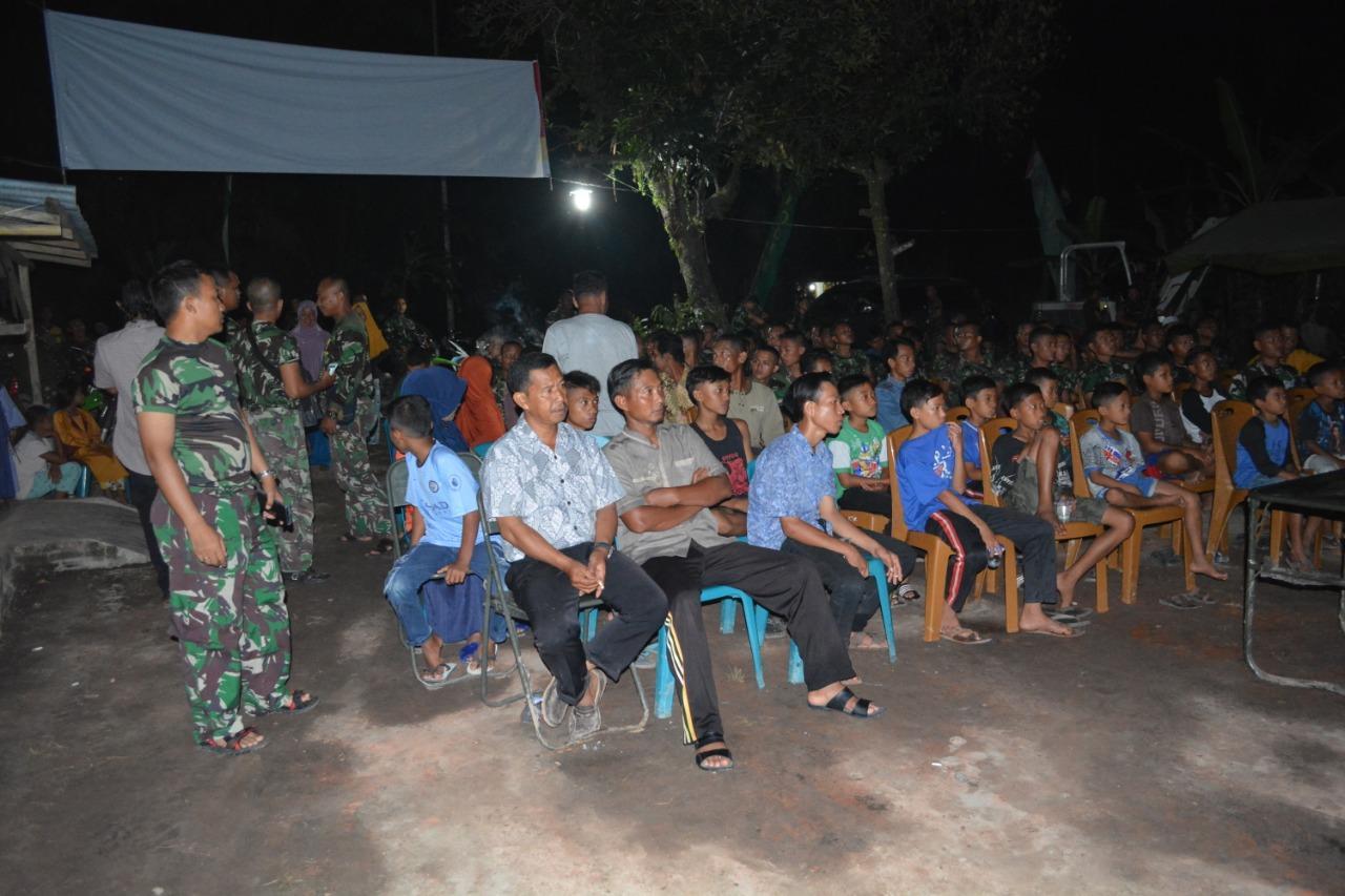 Dansatgas Gelar NOBAR Di Posko TMMD ke 105 Desa Cinta Makmur