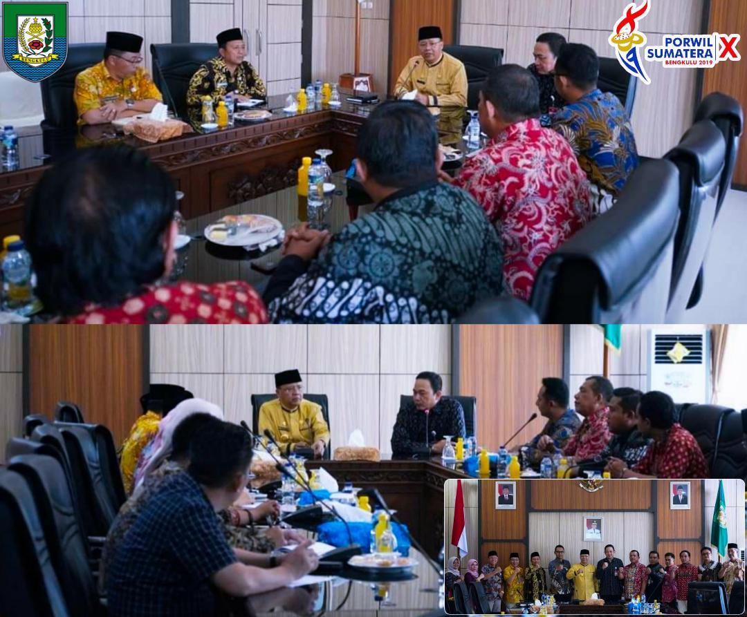 Direktur LPDUK Kemenpora RI Berjanji Turut Sukseskan Porwil Sumatera X Di Bengkulu
