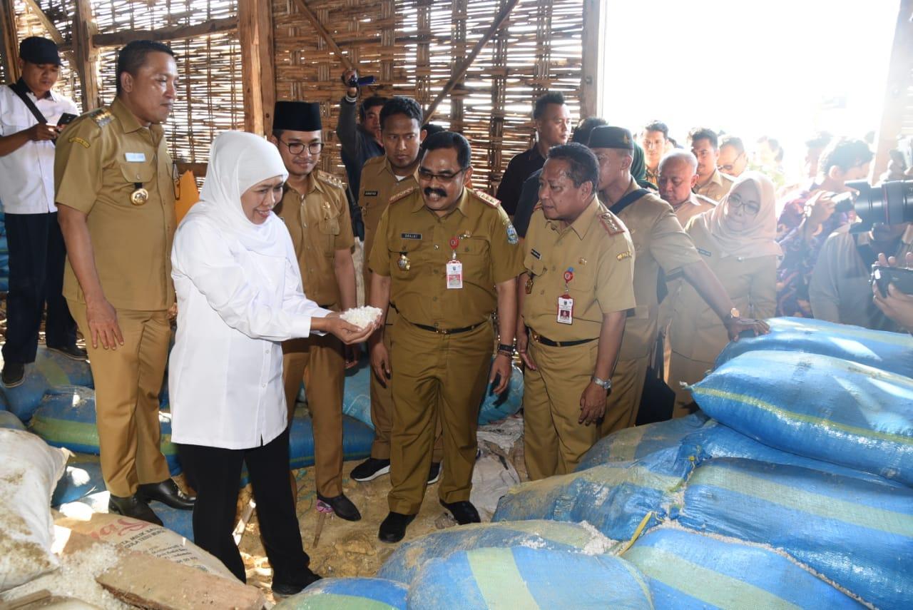 Gubernur Khofifah Pimpin Rakorsus Garam di Sampang