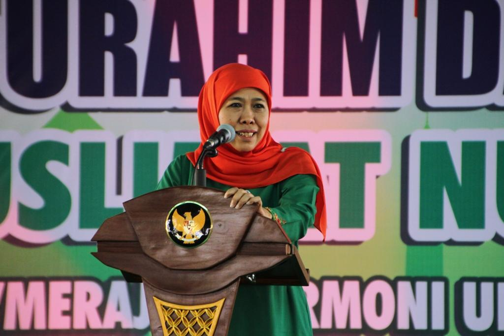 Gubernur Khofifah Ingatkan Muslimat NU Gunakan Sosmed untuk Kebaikan