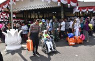 Kabagops Polres Pimpin Pengamanan Pemberangkatan Calon Jama'ah Haji Wonosobo