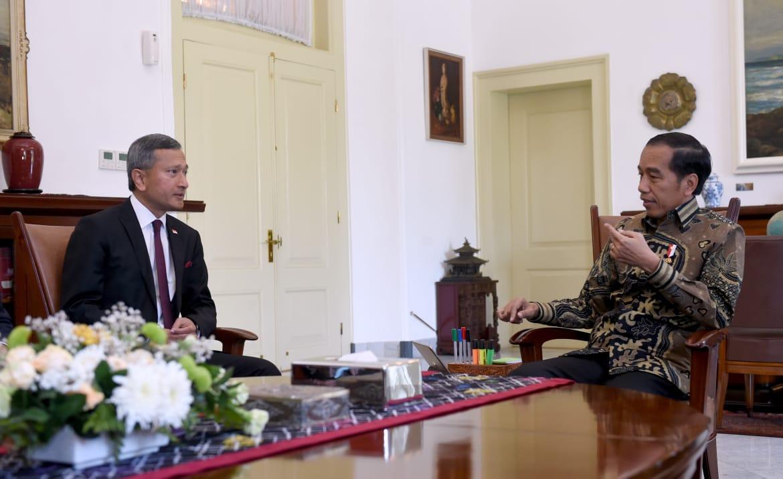 Terima Kunjungan Menlu Singapura, Presiden Bahas Persiapan Leader's Retreat