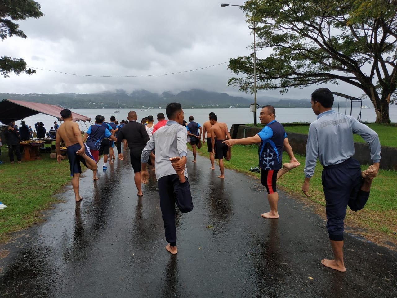 Kantor Kamla Zona Maritim Timur dan Lantamal IX Ambon Olahraga Bersama