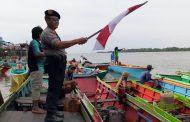 Peringati HUT Bhayangkara ke 73  Polsek Pulau Derawan Adakan Lomba Perahu Dompeng