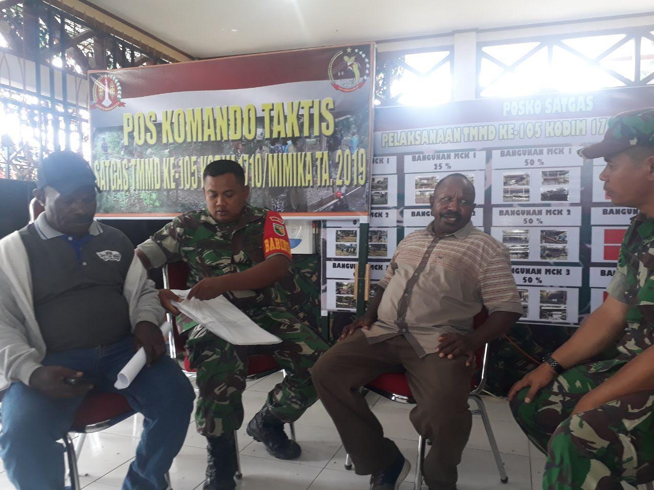 Peran Babinsa Serka Ahmad Mukip Dalam Pembangunan Kampung MJ Oleh TMMD ke-105
