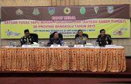 Sekdaprov Buka Raker Satgas Saber Pungli Se-Provinsi Bengkulu Tahun 2019