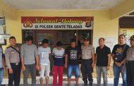 Polsek Dente Teladas Tangkap 4 Pelaku Spesialis Curat di Areal Tambak Udang