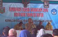 52 Guru SD Korwil Cabang Pendidikan Kecamatan Leksono Ikuti Bimtek Kurikulum K 13