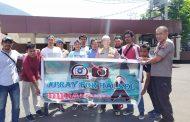 Komunitas KoMPRess, Dan Hukrim Malut Galang Donasi Peduli Korban Gempa