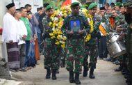 Kopka Imron Dimakamkan Secara Militer oleh Kodim Wonosobo