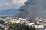 Semakin Ricuh, Massa di Papua Dikabarkan Bakar Kantor Telkom